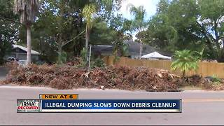 Illegal dumping slowing down Pinellas debris pickup - Video