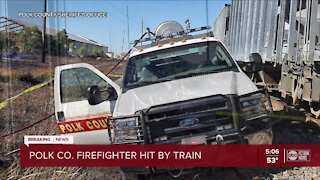Fort Meade firefighter hit by train while battling bush-fire