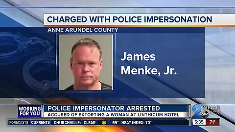 Man charged with police impersonation, extorting woman