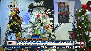 Goodwill's 11th annual Festival of Trees begins -- 7:30am live report