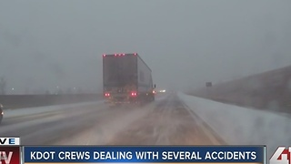 KDOT crews handled several accidents - Video