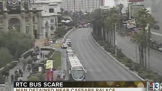 Man detained on RTC bus near Caesars Palace - Video