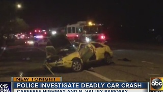 PD: 1 person dead after rollover crash in north Valley - Video