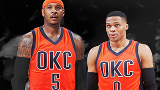 Carmelo Anthony Joining Russell Westbrook & Paul George in OKC!?! - Video