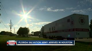 Florida Salvation Army arrives in Houston to help those impacted by Harvey - Video