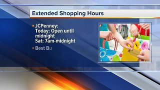 Local stores open around the clock through Christmas Eve