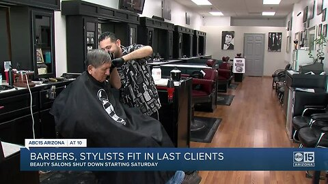 Barbers, stylists fit in last clients