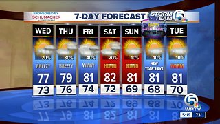 Latest Weather Forecast 6 p.m. Tuesday