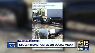 Man arrested after posting stolen items on social media - Video