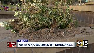 Phoenix veteran memorial garden vandalized - Video