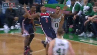 Bradley Beal FLOPS Hard After Taking Invisible Sniper Fire - Video