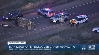 Man dead after rollover crash along I-10