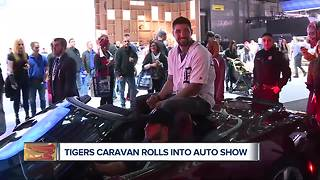 Tigers players go 'car shopping' at Auto Show - Video