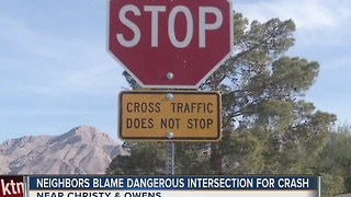 Residents blame dangerous intersection for high-speed crash - Video