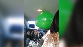 Precious Baby Scared Of A Balloon - Video