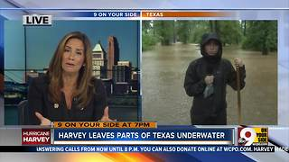 Harvey leaves parts of Texas underwater - Video