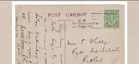 Titanic crewmember postcard to be auctioned off