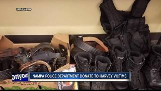Nampa Police send supplies to police impacted by Hurricane Harvey - Video