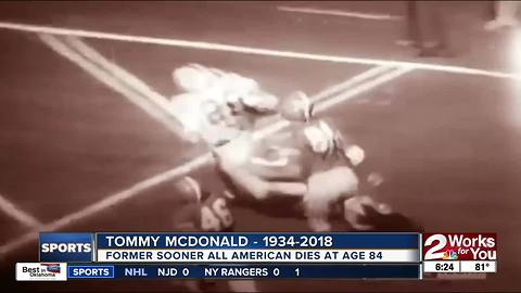 Former Sooners' All American, Pro Football Hall of Famer Tommy McDonald dies at age 84