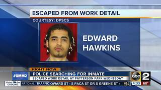 Authorities search for inmate who walked off work detail - Video