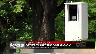 Baltimore City speed cameras will start mailing warning letters to violators Monday