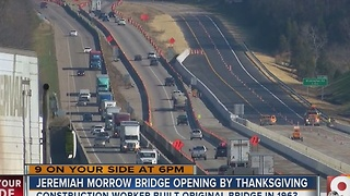 New Jeremiah Morrow Bridge opens after six years of construction - Video