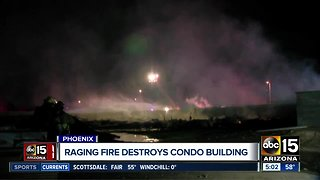 Condo complex under construction destroyed in fire