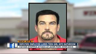 Employee charged with sexually assaulting teen in grocery store bathroom - Video