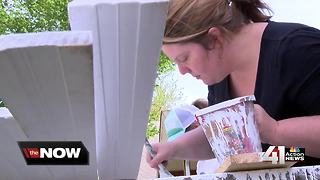 Volunteers build home for mother of three