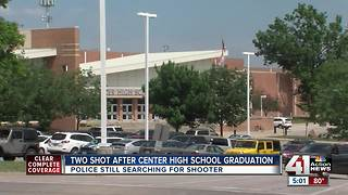Police look for shooter at Center High School graduation - Video