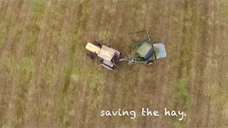 Man Saves the Hay in County Clare, Ireland - Video