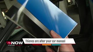 Thieves steal car manual - Video