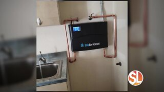 All About Water shows us how small and compact a tankless water heater is