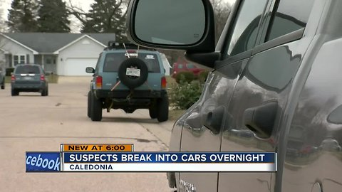 Caught on Camera: String of vehicle break-ins in Caledonia