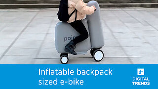 This inflatable, backpack-sized e-bike is the most ridiculous transport idea yet
