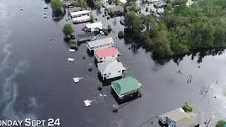 Florence Flooding Before and After Near Myrtle Beach - Video
