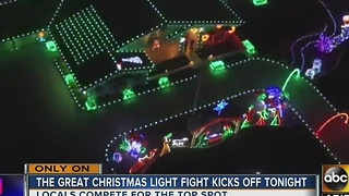 Kingman house offers spectacular light display - Video
