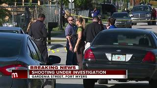 Police activity on Michigan Avenue in Fort Myers - Video
