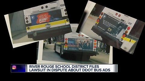 River Rouge School District sues Detroit over billboard and bus advertising