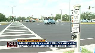 Pedestrians calling for change after child hit crossing Bruce B Downs - Video