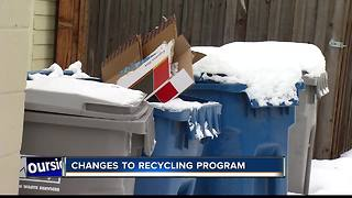 New recycling rules don't allow certain types of plastic - Video