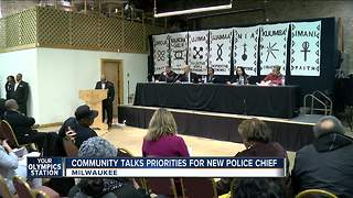 Community talks priorities for new police chief - Video