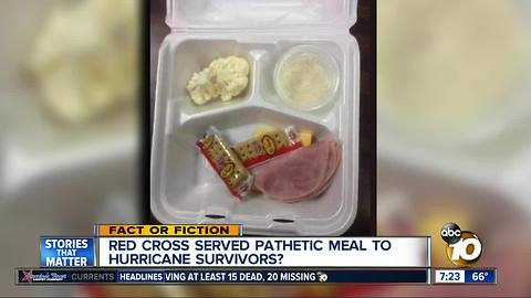 Red Cross serving terrible meals?