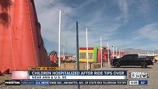 Children injured after ride tips over at Halloween pumpkin patch - Video