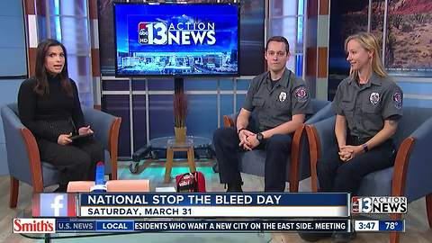Interview about National Stop the Bleed Day