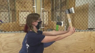 Axes will be flying as the Grand Throw House opens on Grand Island