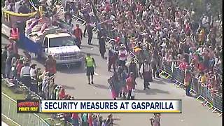 Security measures at Gasparilla