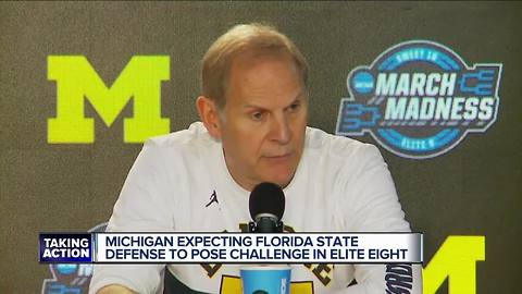 Michigan expects FSU defense to pose challenge in Elite Eight