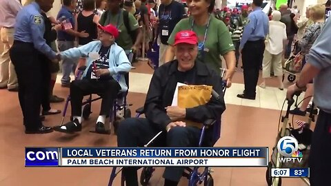 Local veterans return from Honor Flight to Washington D.C.