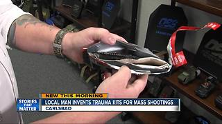 Local inventor wants pocket-sized trauma kits available to all - Video